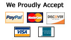 We Proudly Accept These Payment Methods