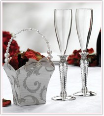 Silver Renaissance Collection Toasting Flutes