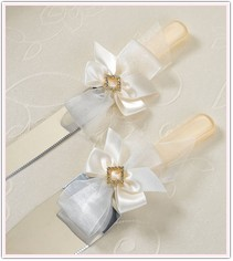 Ivory Diamond Collection Cake Service Set