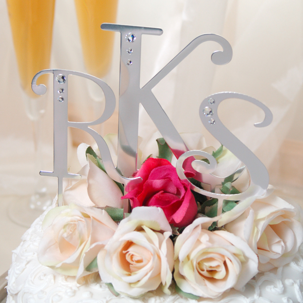 Wedding Cake Topper Heart and sign