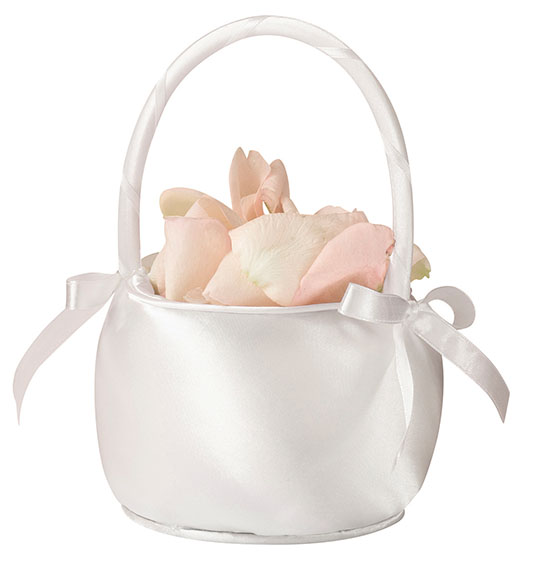 Satin Collection Flower Girl Basket-3 Colors