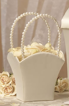 Satin Simplicity Flower Girl Basket
