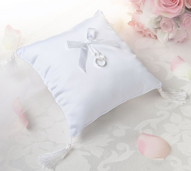 Satin Cord Edge Ring Pillow