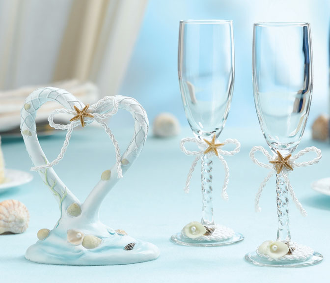 Coastal Mist Collection Toasting Glasses