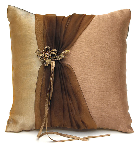 Bronze Elegance Collection Square Ring Pillow