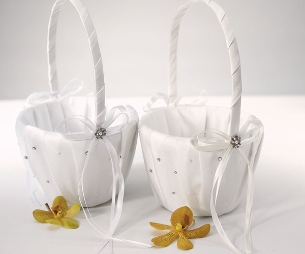 Pearls & Crystals Flower Girl Basket