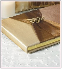 Bronze Elegance Collection Traditional Guest Book